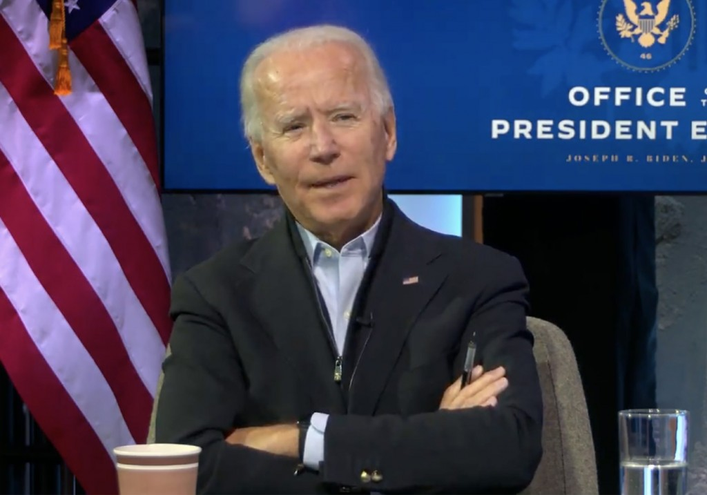 Biden meets Virtually with Frontline Workers