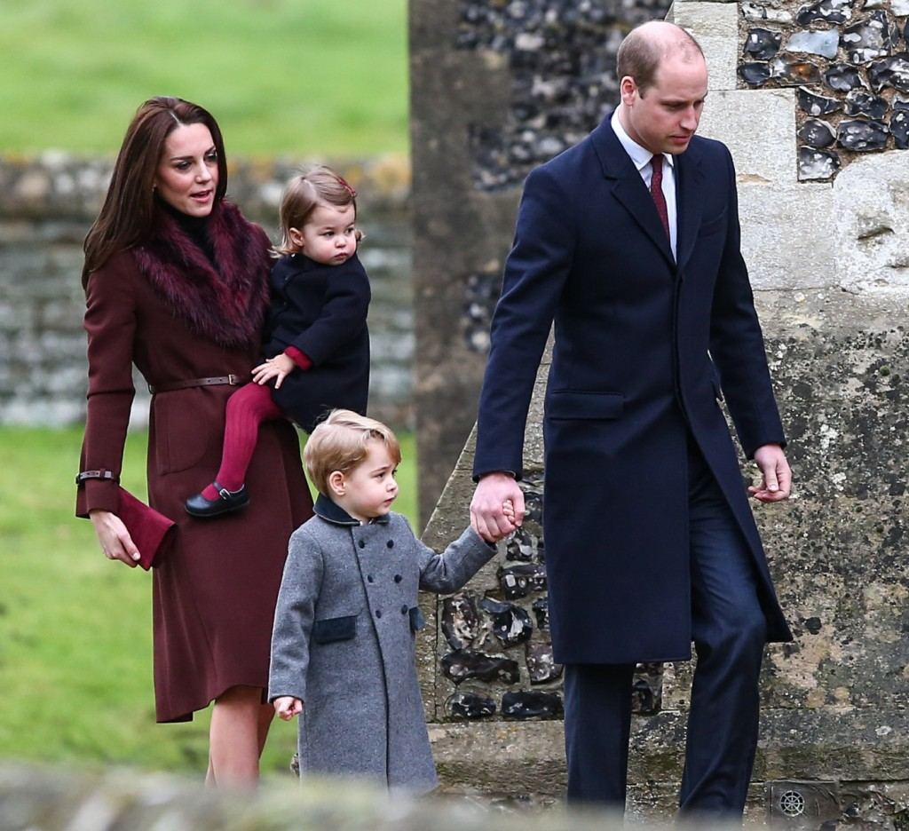 The Duke and Duchess of Cambridge visit St Marks Englefield on Christmas Day