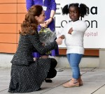 Britain's Catherine visits a workshop at Evelina London Children's Hospital, in London