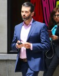 Donald Trump Jr.. heads to lunch Madison Avenue