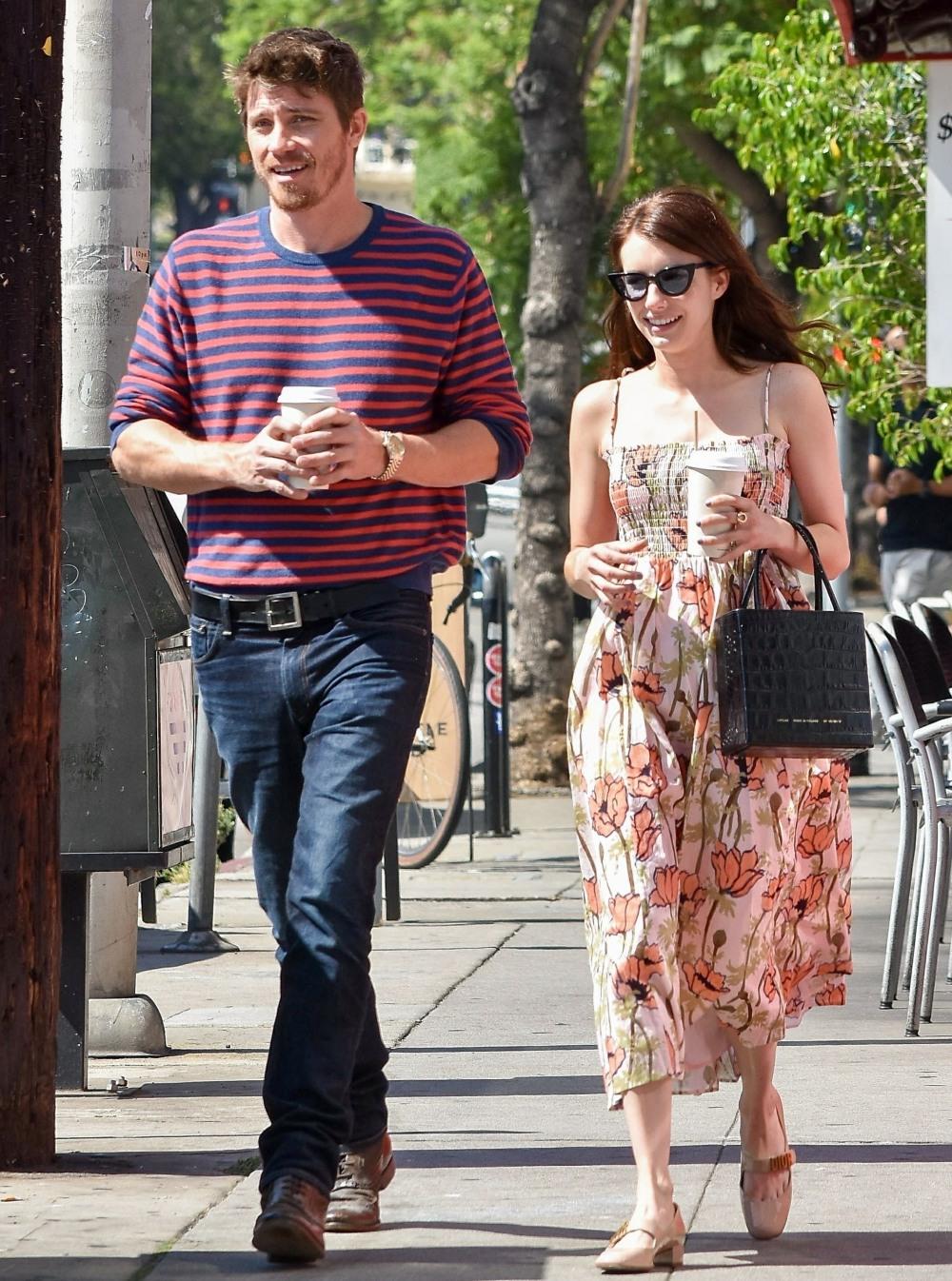 Emma Roberts and Garrett Hedlund go out for coffee in Los Feliz