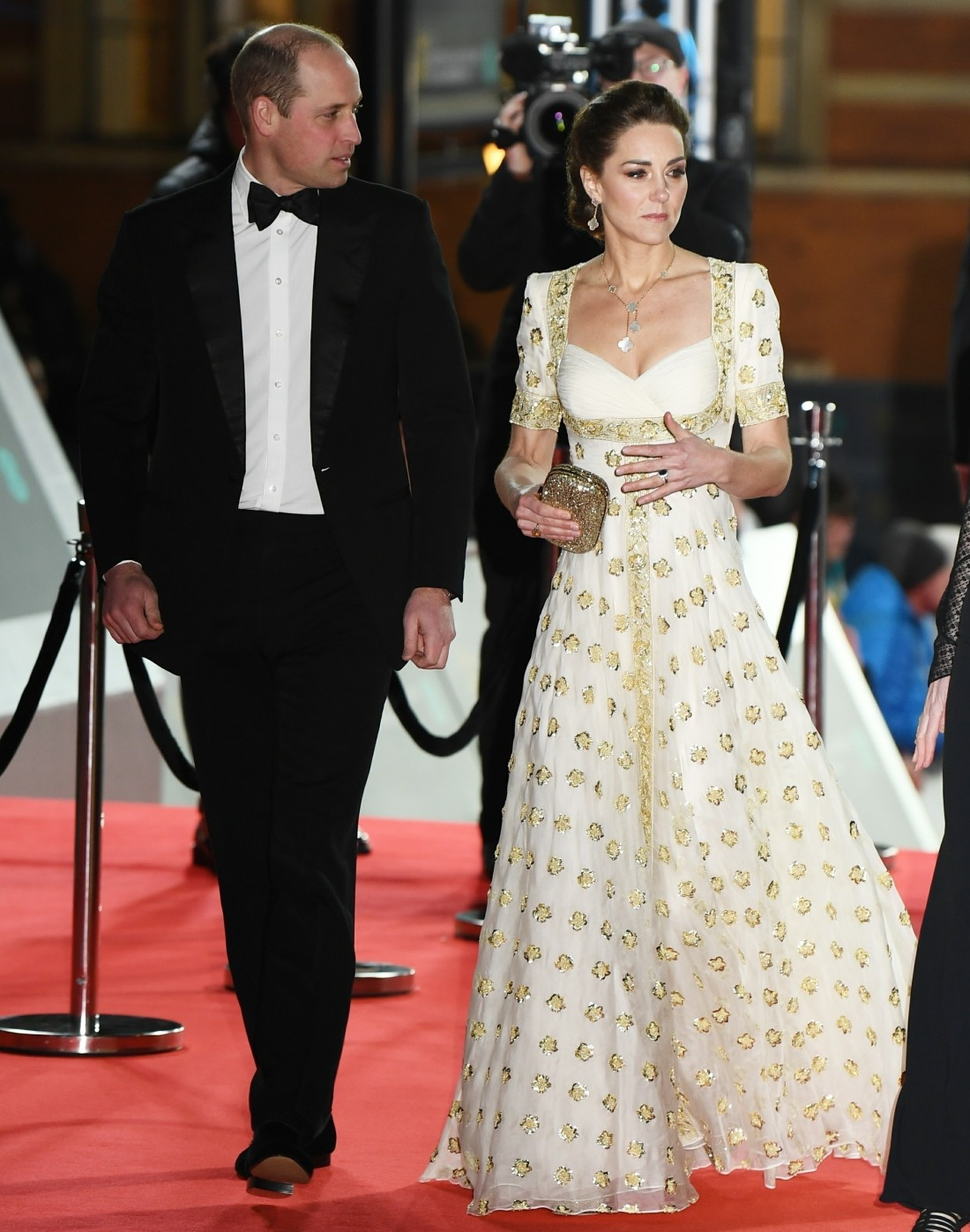 The Duke and Duchess of Cambridge attend the EE British Academy Film Awards 2020 in London