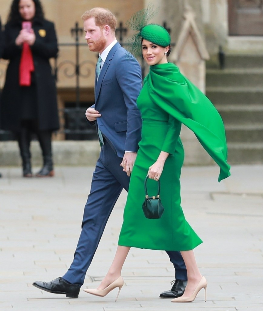 Members of the royal family and politicians are pictured arriving at the Commonwealth Day Service