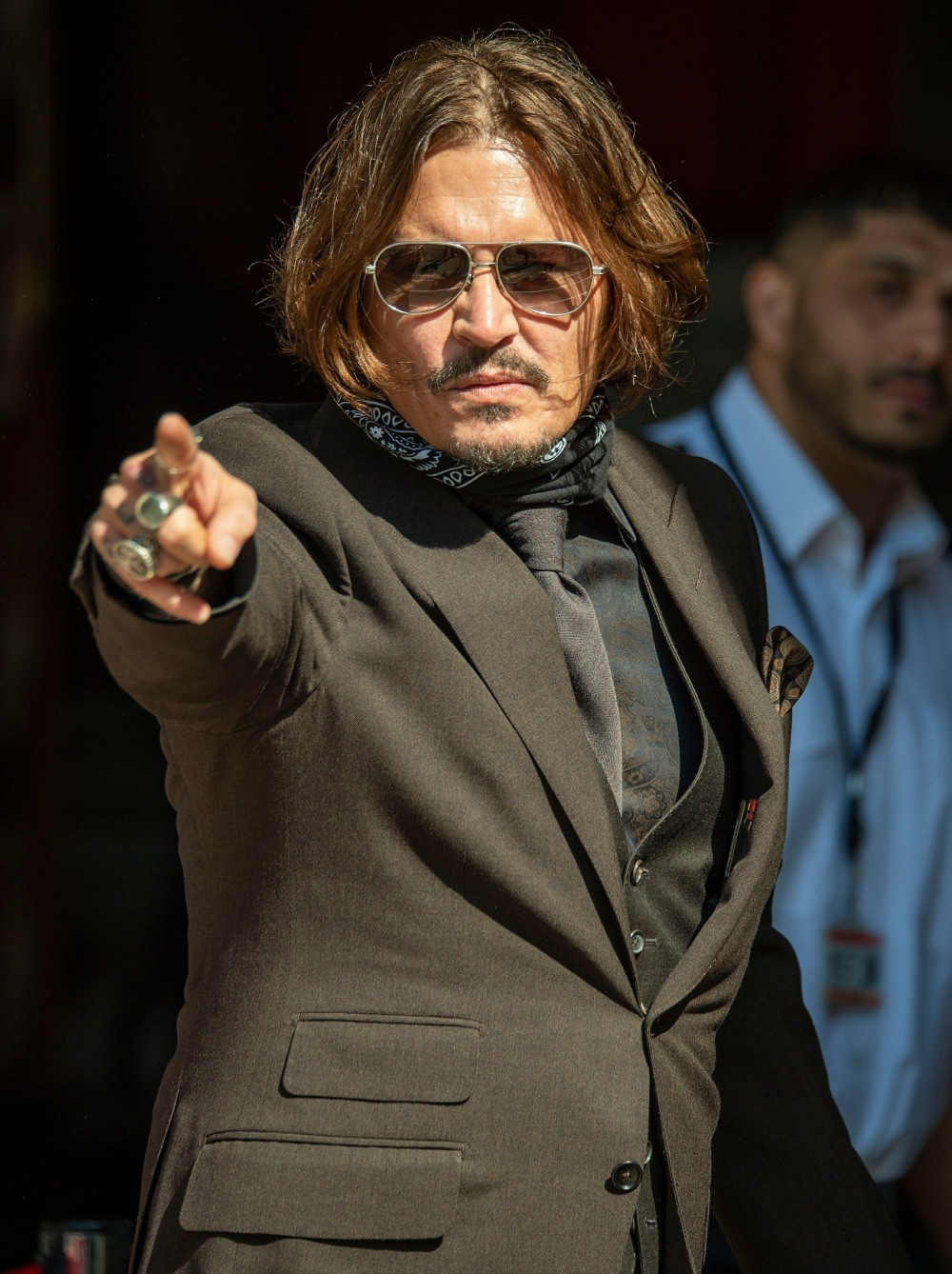 Actor Johnny Depp spotted at the High Court in London.