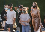 Angelina Jolie takes the kids out for sushi at Nobu