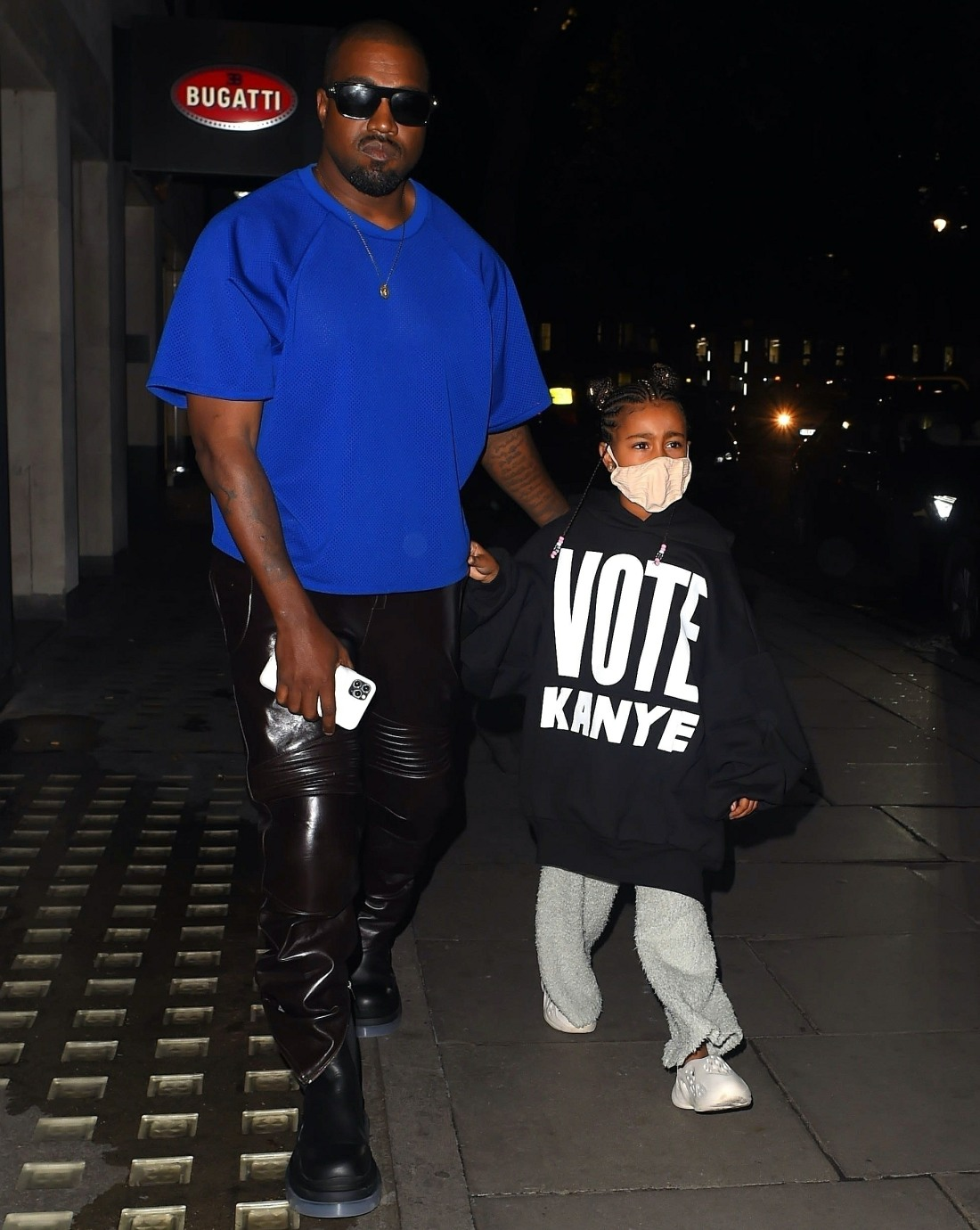 Kanye West has North West advertise his 2020 Presidential campaign at Hakkasan in London!