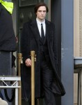 Robert Pattinson is spotted on set of the new movie 'The Batman' in Liverpool.  Filming shut down last month after star actor contracted COVI-19