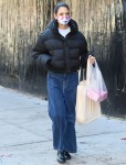 Katie Holmes enjoys a refreshing morning walk while running errands in Soho!