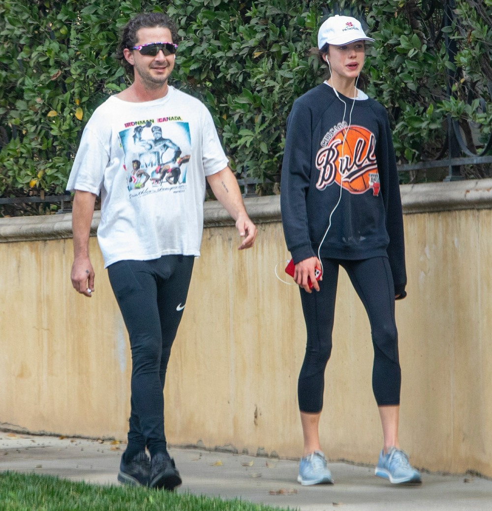 Shia LaBeouf and new girlfriend Margaret Qualley go jogging together