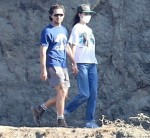 Shia LaBeouf and Margaret Qualley enjoying a romantic hike in the Hollywood Hills