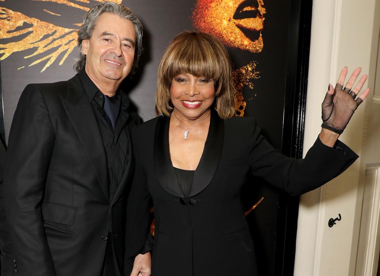 Tina Turner and Erwin Bach at 'Tina: The Tina Turner Musical' press night at Aldwych Theatre