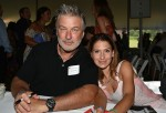Alec and Hilaria Baldwin attend the East Hampton Library's Authors Night in Amagansett