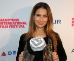 Hilaria Baldwin at the Guild Hall in East Hampton during the Hamptons International Film Festival