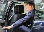 HRH Prince Harry, The Duke of Sussex closing the car door following his attendance at the twelfth annual Lord Mayor?Äôs Big Curry Lunch in aid of the three National Service Charities: ABF The Soldiers?Äô Charity, the Royal Navy and Royal Marines Charity a