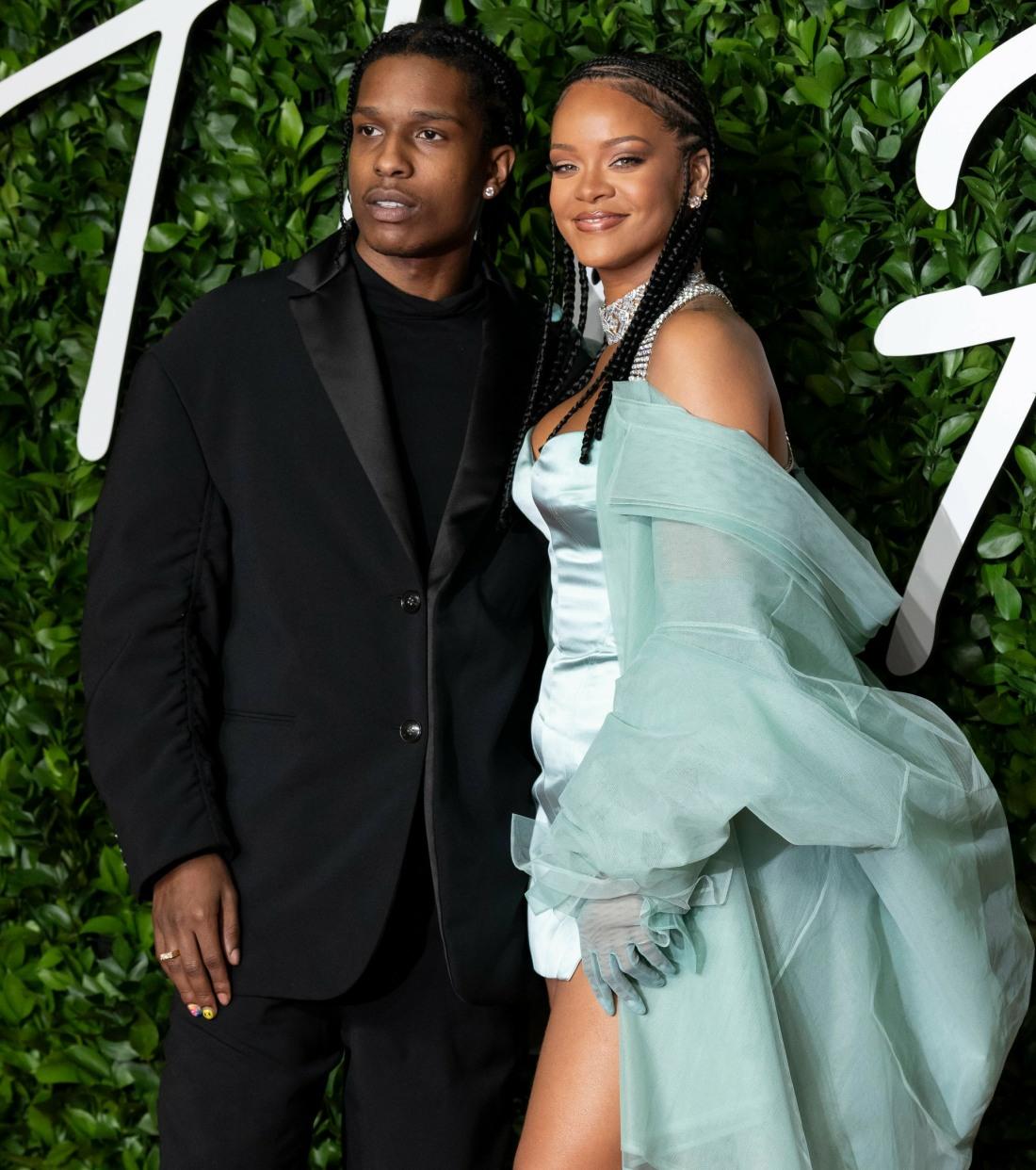 Rihanna and ASAP Rocky attend The Fashion Awards 2019 at The Royal Albert Hall. London, UK. 02/12/2019