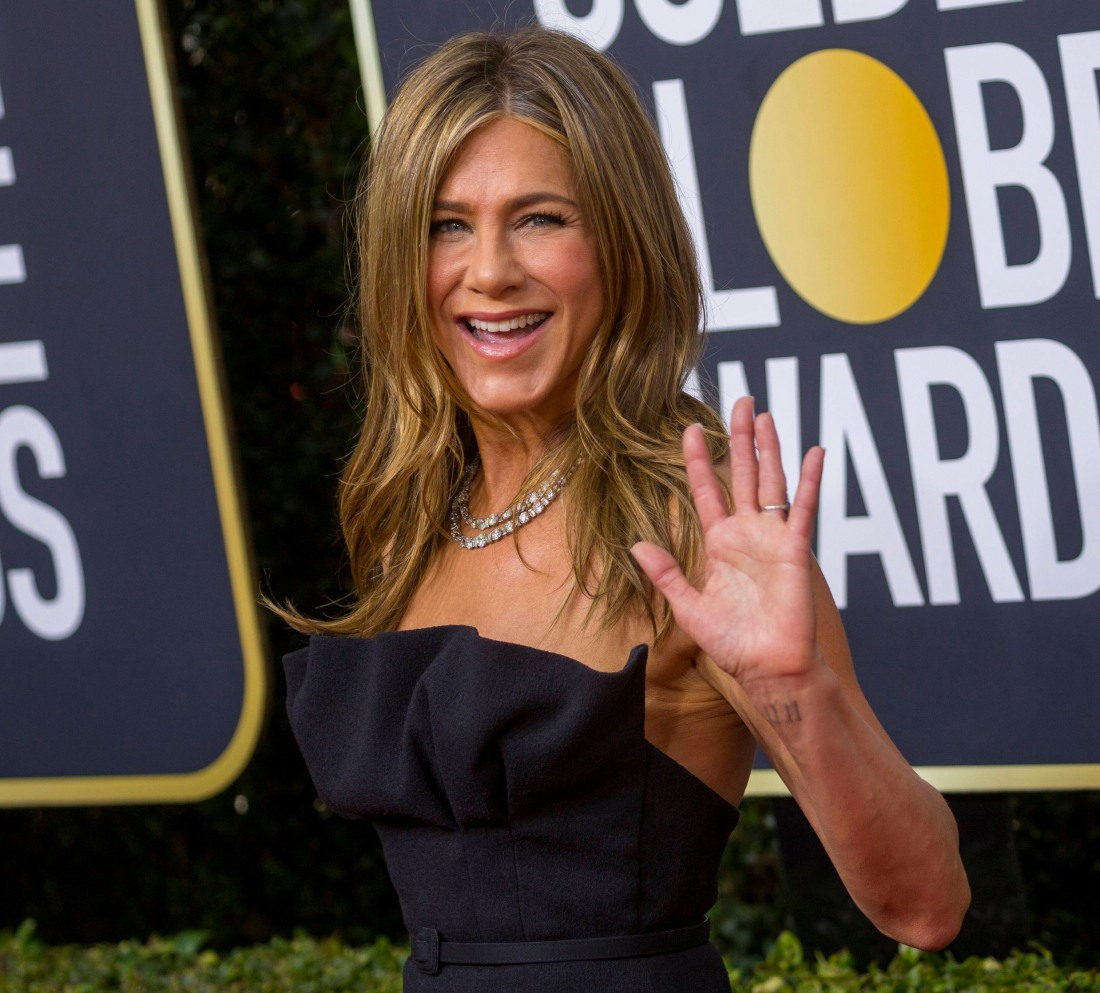 Jennifer Aniston attends the 77th Annual Golden Globe Awards, Golden Globes, at Hotel Beverly Hilton in Beverly Hills, Los Angeles, USA, on 05 January 2020.   usage worldwide