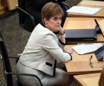 First Minister of Scotland Nicola Sturgeon attends a session in which she delivered her Programme For Government statement in the debating chamber of the Scottish Parliament in Edinburgh on September 1, 2020. - Sturgeon announced her programme for governm