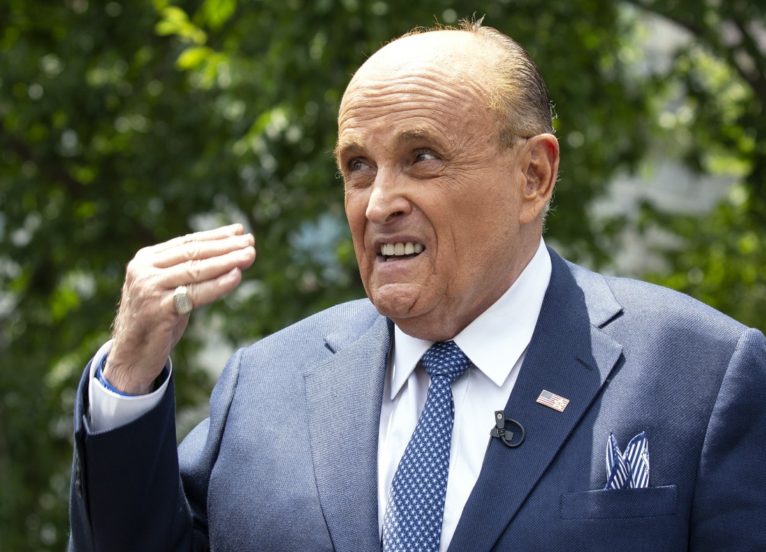 Giuliani Speaks to the Media