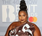 Lizzo at the 40th Brit Awards Red Carpet arrivals, The O2 Arena, London on February 18th 2020