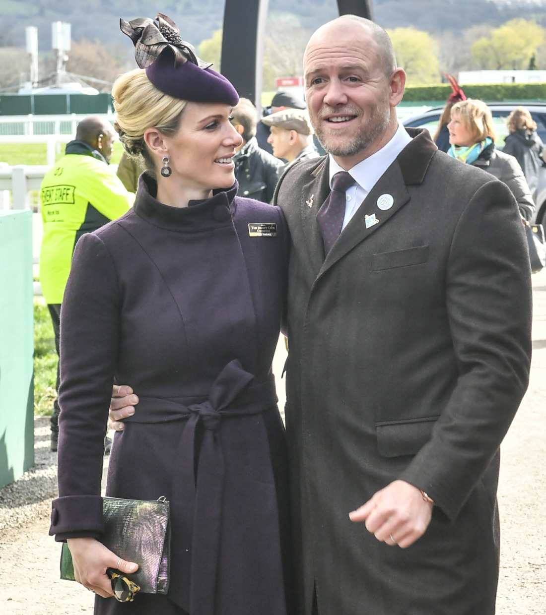Zara Tindall with husband Mike Tindall  seen at The Festival 2020, Gold Cup Day Cheltenham Racecourse, Cheltenham , Glos