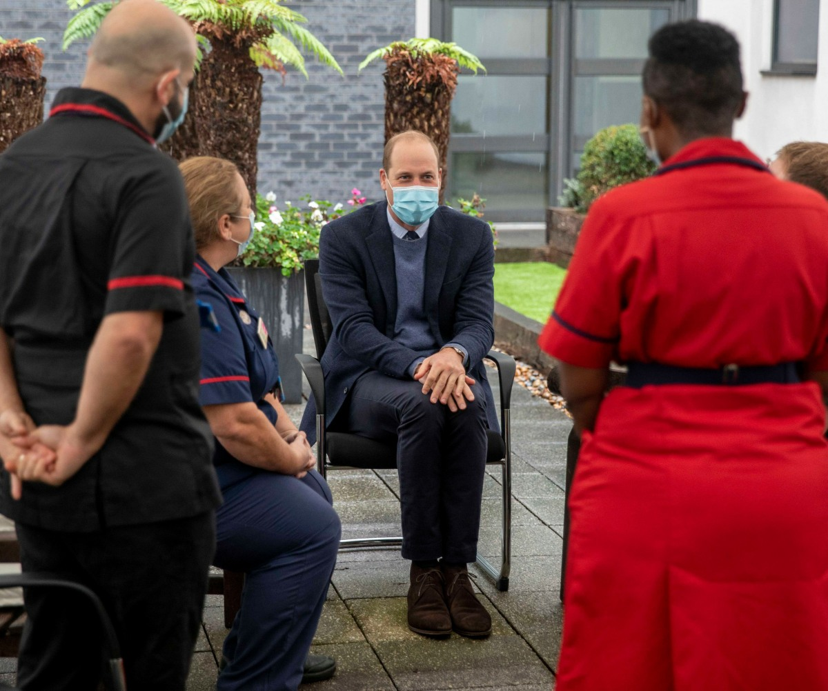 HRH Prince William the Duke of Cambridge, meets patients and staff and attends at a groundbreaking ceremony at The Royal Marsden in Surrey.