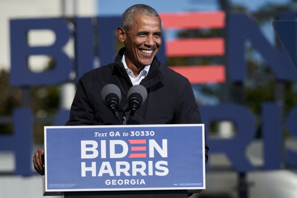 USA - 2020 - President Barack Obama drive-in rally in Atlanta