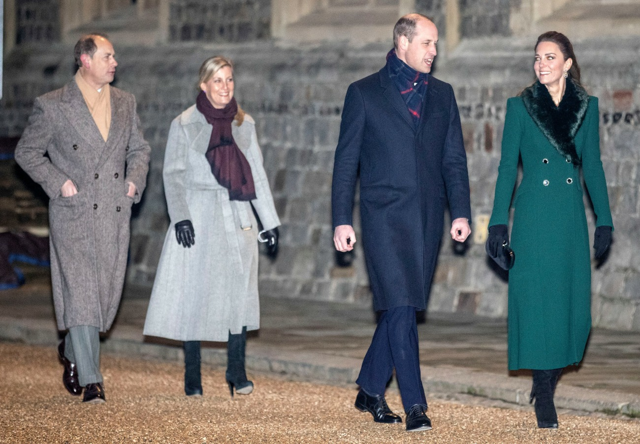The Duke and Duchess of Cambridge, The Earl and Countess of Wessex arrive at Wi