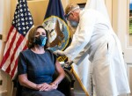 House Speaker Pelsoi recieves vaccination shot