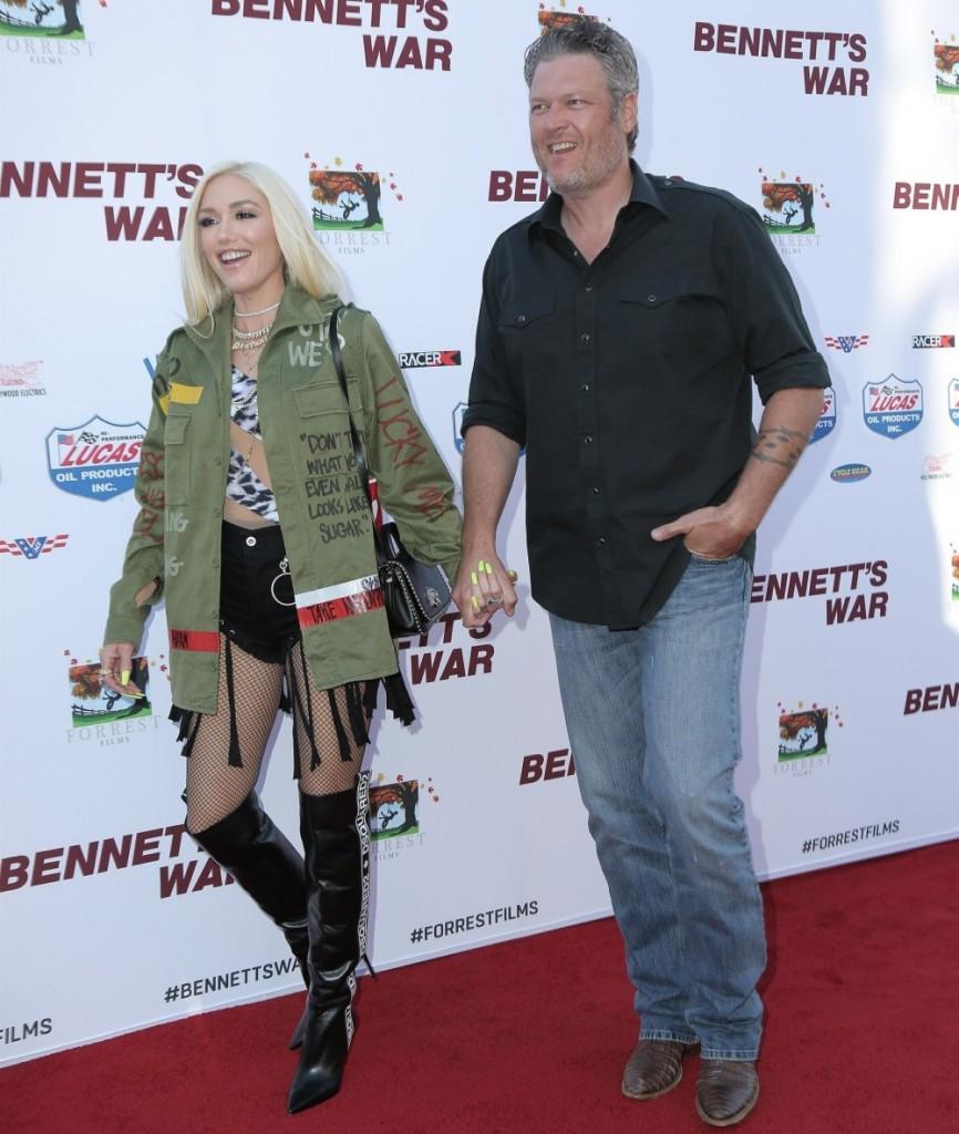 "Gwen Stefani and Blake Shelton enjoy a date night at the LA premiere of ""Bennett's War"""