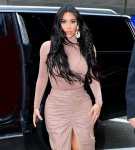 Kim Kardashian steps out for lunch in a nude pink matching ensemble