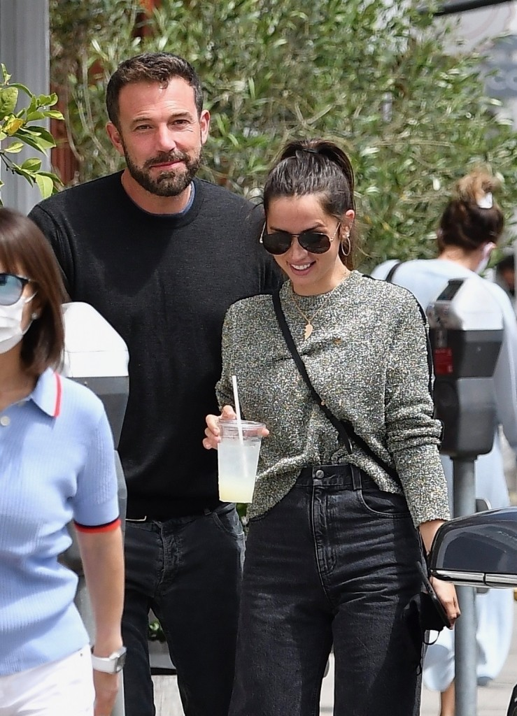 Ben Affleck and Ana de Armas go out for lunch together at the Brentwood Country Mart