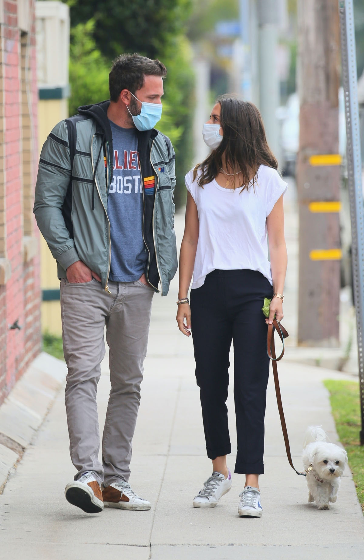 Ben Affleck and Ana de Armas take a morning walk