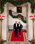 The Official White House photo for Christmas with Donald and Melania Trump