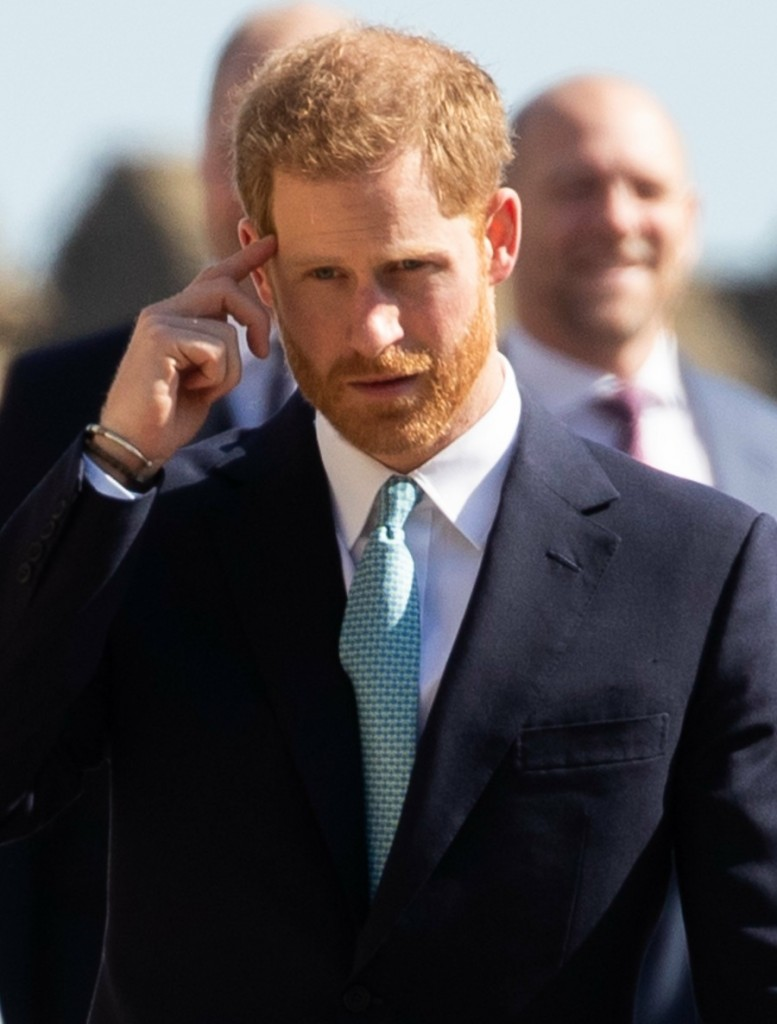 Prince Harry and members of the Royal Family attend the Easter Sunday service at Windsor Castle, Windsor. 21 April 2019.