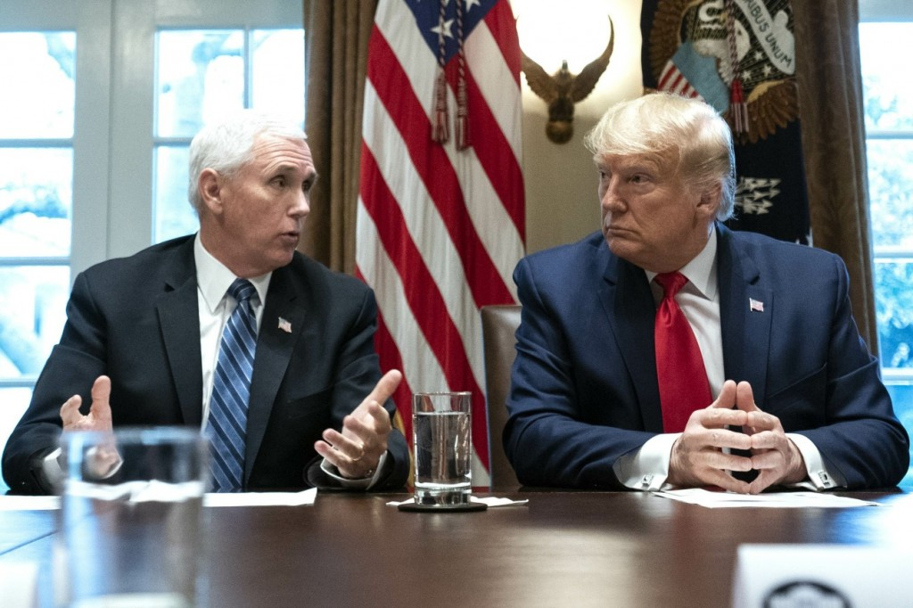 President Trump meets with the Coronavirus Task Foce and Pharmaceutical executives in Washingotn