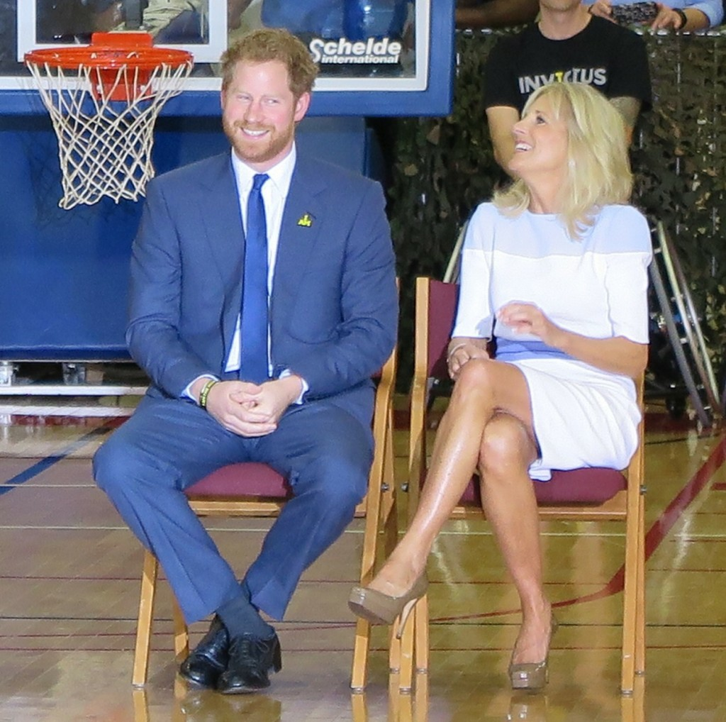 Prince Harry and Michelle Obama visit Fort Belvoir