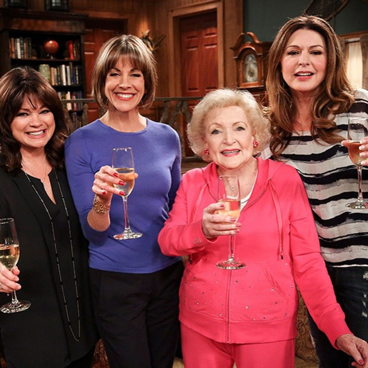 """Betty White """"For my first Instagram post I wanted  say how muh I love these girls dearly. What a great time we had. #HotFinale #ThanksForTheLaughs"""""""