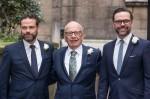 Lachlan Murdoch, Rupert Murdoch and Jame..........