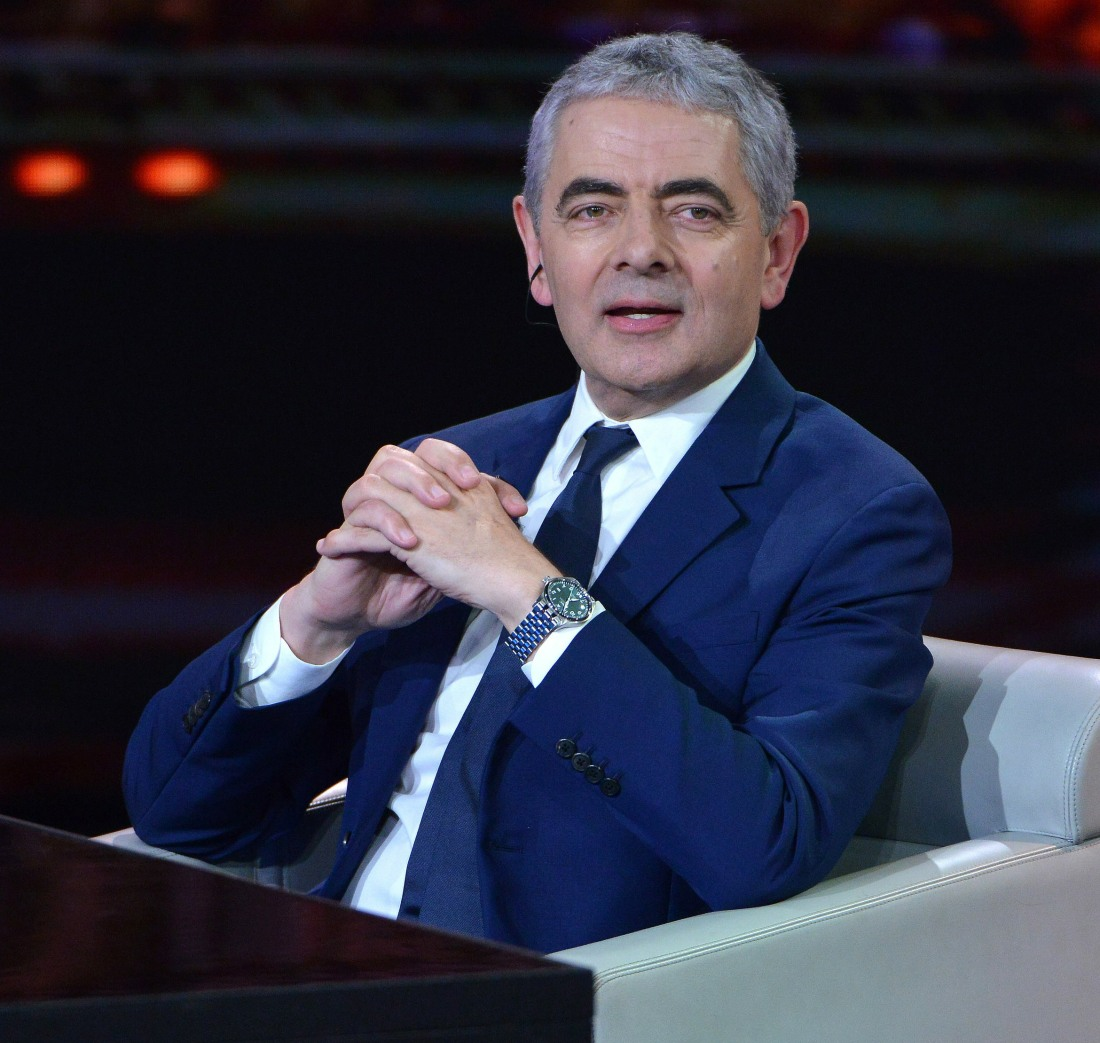 Rowan Atkinson appears on the popular Italian TV show 'Che tempo che fa' on Rai1