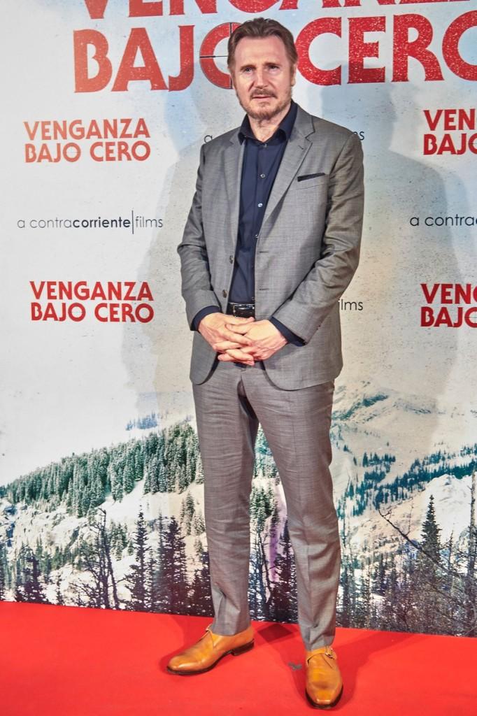 Cold Pursuit Madrid premiere starring Liam Neeson