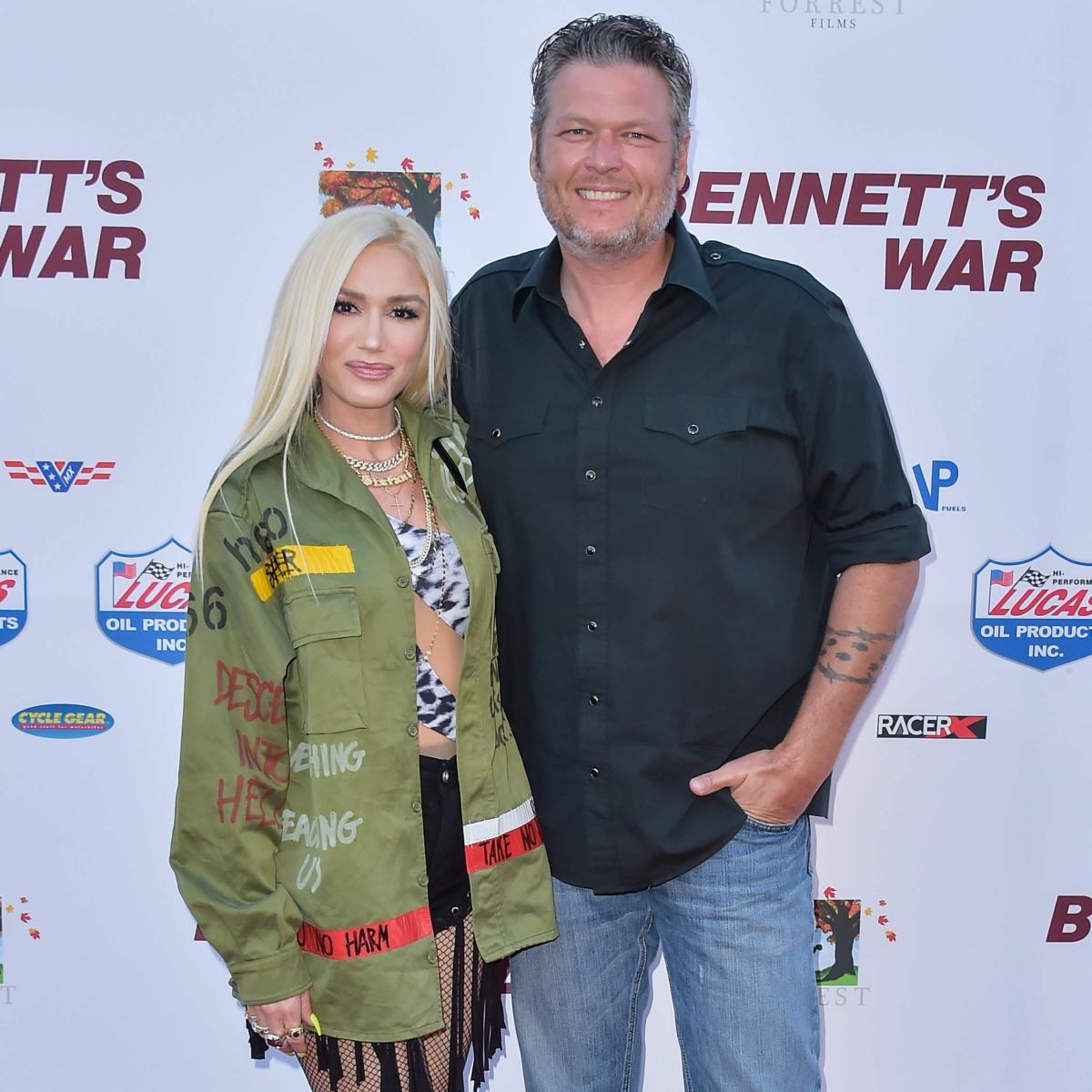 Singer Gwen Stefani and boyfriend/singer Blake Shelton arrive at the Los Angeles Premiere Of Forrest Films' 'Bennett's War' held at the Steven J. Ross Theater at Warner Bros. Studios on August 13, 2019 in Burbank, Los Angeles, California, United States. (