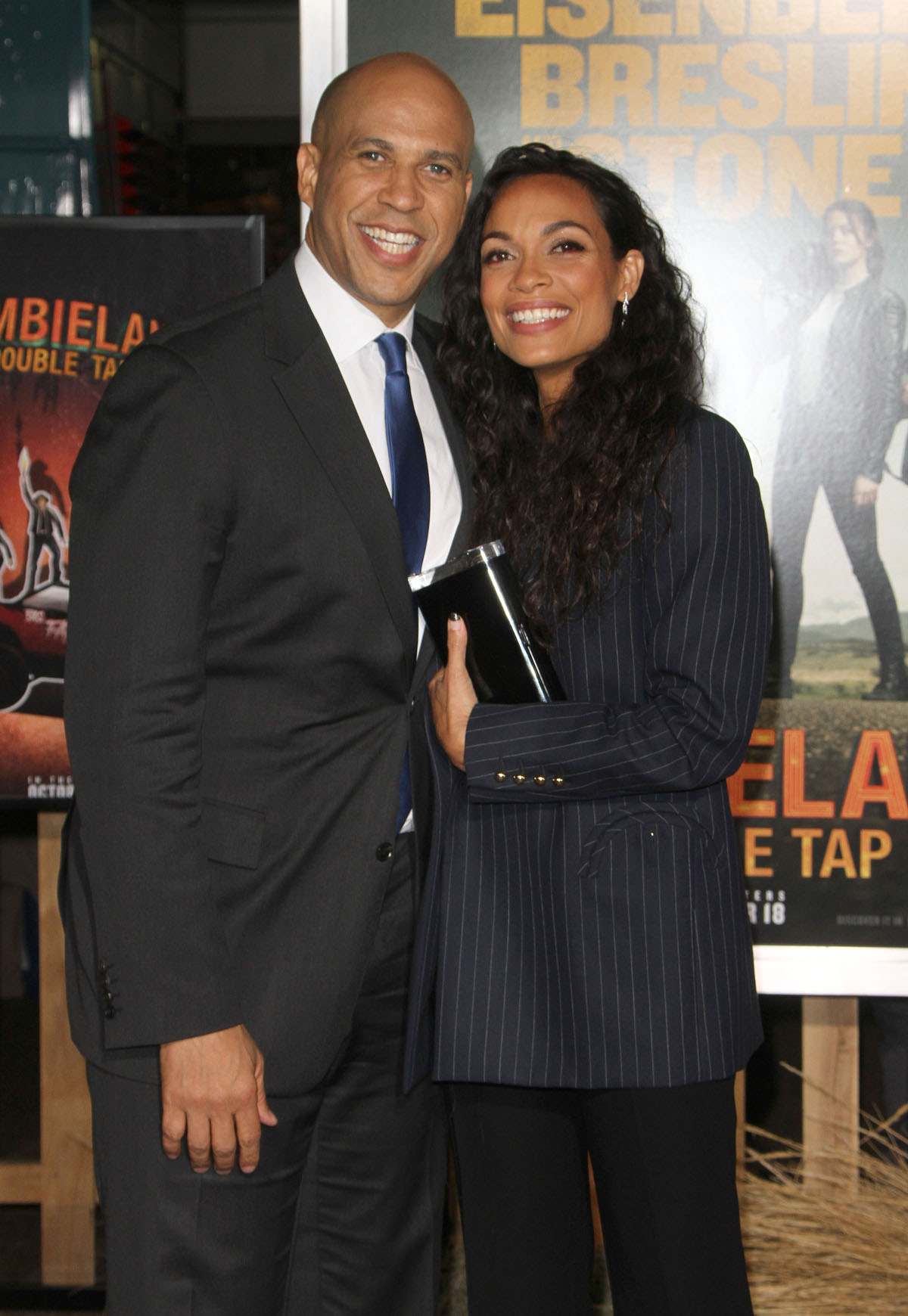 """Rosario Dawson, Cory Booker attendstthe premiere of """"Zombieland: Double Tap"""" in Los Angeles"""