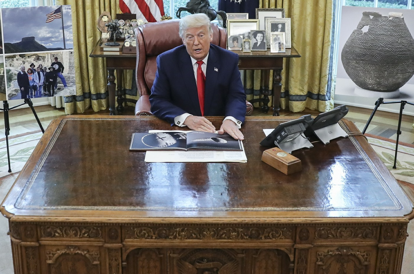 Trump Oval Office Event Commemorating the Repatriation of Native American Remains and Artifacts from the Republic of Finland