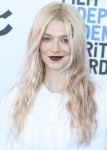 Actress Hunter Schafer wearing an outfit by Loewe with Malone Souliers shoes arrives at the 2020 Fil...