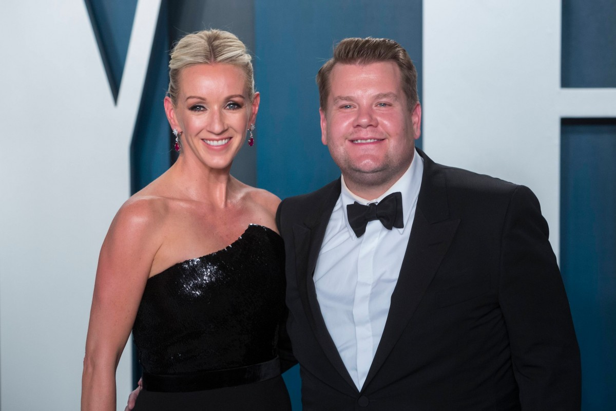James Corden and Julia Carey attend the Vanity Fair Oscar Party at Wallis Annenberg Center for the P...