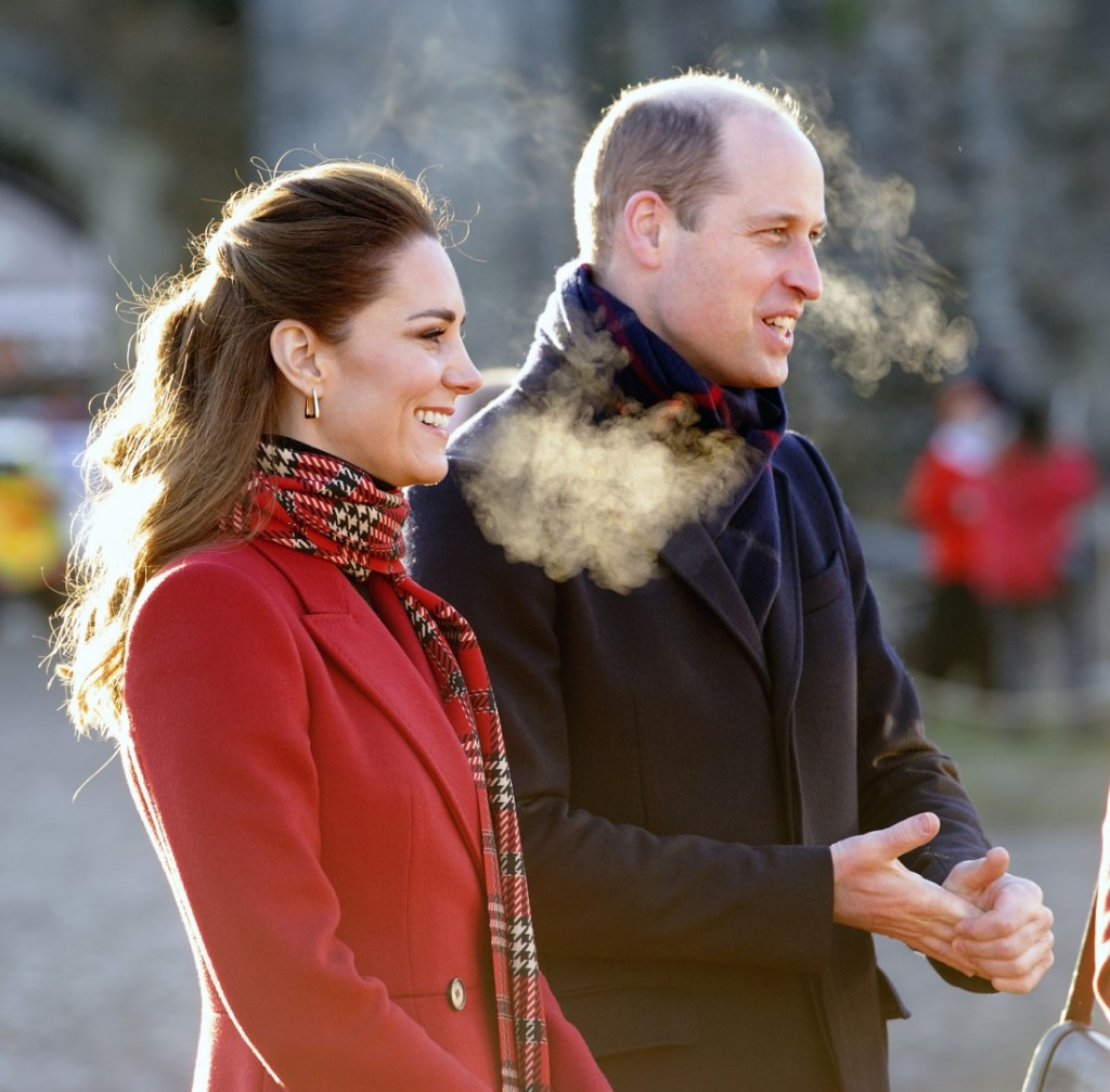 The Duke and Duchess of Cambridge are visiting Cardiff Castle to meet local univ