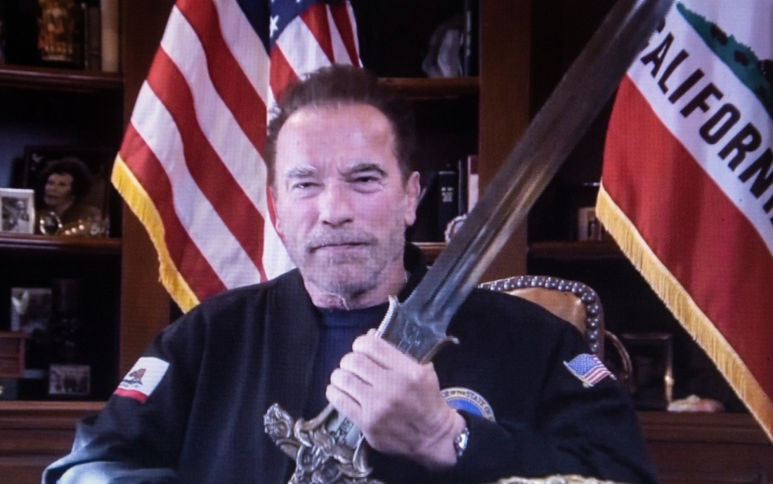 Arnold Schwarzenegger compares the Capitol rioters to Nazis.