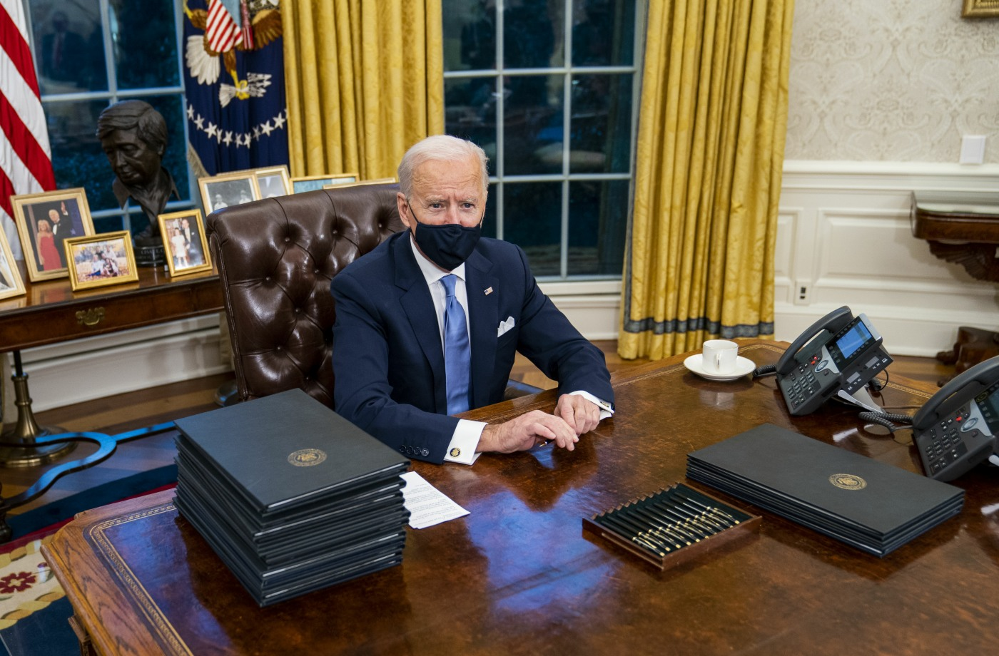Biden Signs First Executive Orders