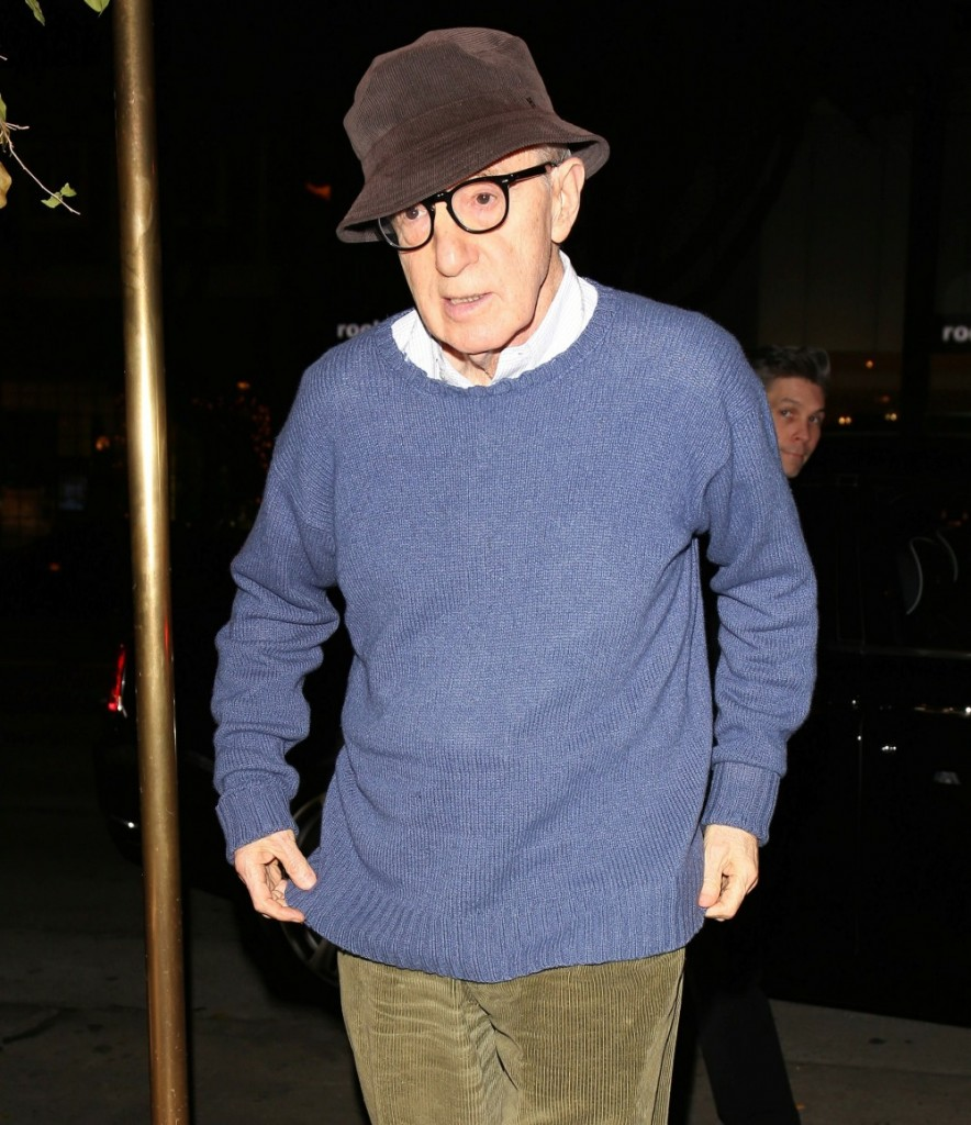 Woody Allen dines at Madeo