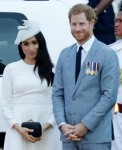 Prince Harry and Meghan Markle on a royal tour of Australia